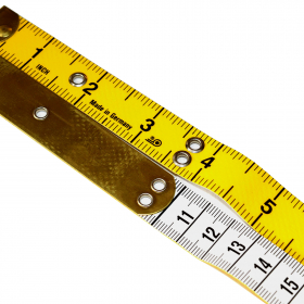 10cm Brass Ended Glass Fibre Tape Measure Analogical (Inches/Centimetres)