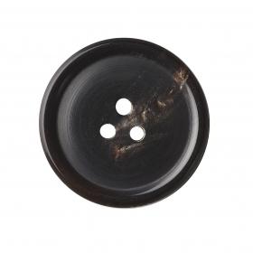 DB16 - Natural Horn, 3 Hole, Domed, Polished
