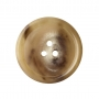 DB16 - Natural Horn, 3 Hole, Domed, Polished